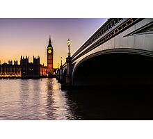 Big Ben at sunset  Photographic Print
