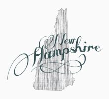 New Hampshire State Typography One Piece - Short Sleeve