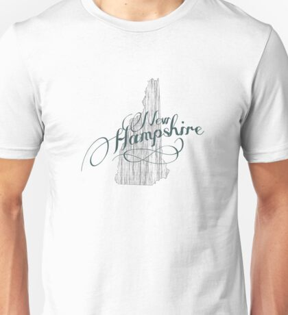 New Hampshire State Typography Unisex T-Shirt
