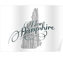 New Hampshire State Typography Poster
