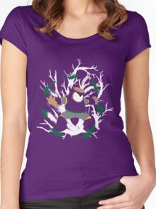 Wood Man Splattery Vector T Women's Fitted Scoop T-Shirt