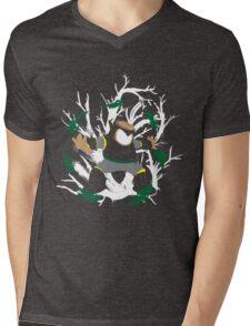 Wood Man Splattery Vector T Mens V-Neck T-Shirt
