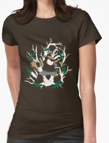 Wood Man Splattery Vector T Womens Fitted T-Shirt