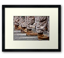 Until these boots are home Framed Print