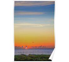First Light -- Sunrise on South Beach Poster