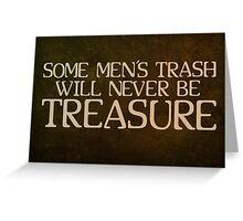 Trash Greeting Card