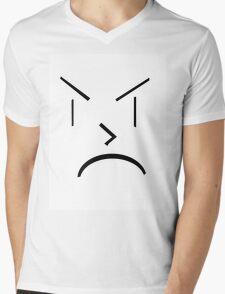 Angry Face Mens V-Neck T-Shirt