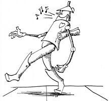 Tin Man Cartoon by DaveYoung