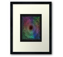 Multi-colored Storm Eye Framed Print