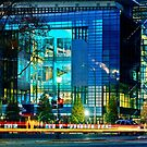 The Newseum at Night by cclaude