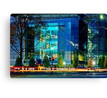 The Newseum at Night Canvas Print