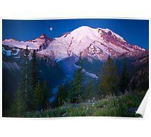 White River Moonset Poster