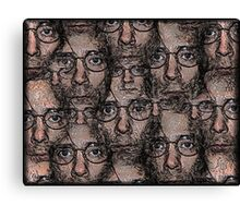 Multiple Pen and Ink Self-Portrait Canvas Print