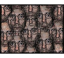 Multiple Pen and Ink Self-Portrait Photographic Print