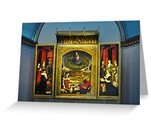 LE TRIPTYQUE DU BUISSON ARDENT  / NICOLAS FROMENT (CARD) Greeting Card