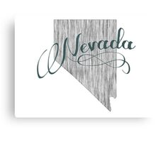 Nevada State Typography Canvas Print