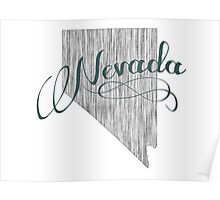 Nevada State Typography Poster