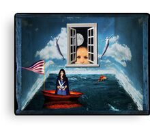 Boxed World Collection - Image 2 - Lost At Sea Canvas Print