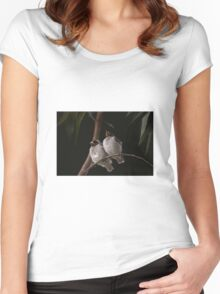 Miner birds Women's Fitted Scoop T-Shirt