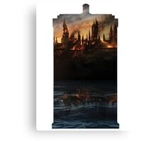 hogwarts on fire on the inside Canvas Print