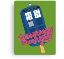 Wibbly Wobbly Timey Wimey Pop Canvas Print