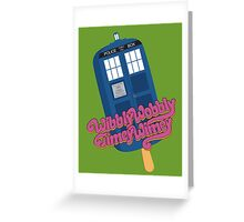 Wibbly Wobbly Timey Wimey Pop Greeting Card