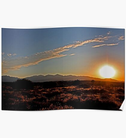 High Desert Sunset Poster