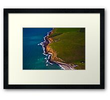 Land and Sea Collide Framed Print