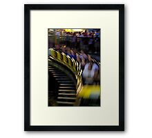 The Wooden Coaster Framed Print