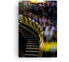 The Wooden Coaster Canvas Print