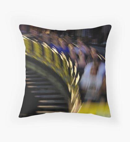 The Wooden Coaster Throw Pillow