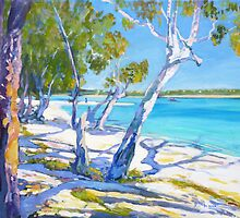 Bribie Beach Sunny Sunday by Virginia McGowan