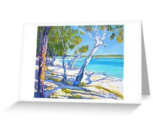 Bribie Beach Sunny Sunday Greeting Card