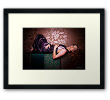 Kate at the Picture Lounge Framed Print