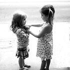 Playing on the sidewalk by waddleudo