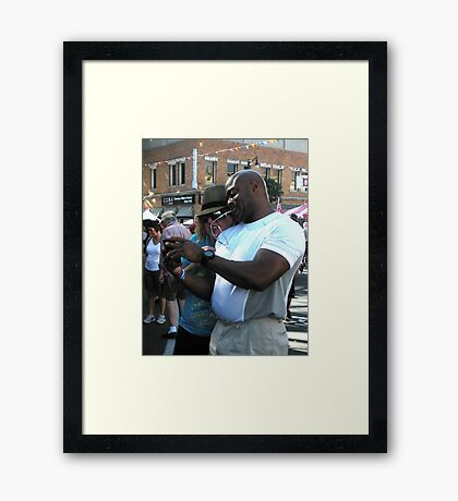 """""""Cell Phone Photo Review"""" Framed Print"""