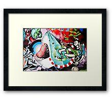 Catching a Shark Street Art Framed Print