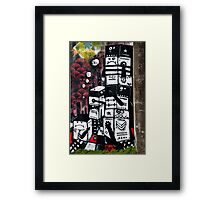 Abstract Graffiti fragment on the textured wall Framed Print
