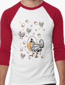 Retro Roseanne Chickens Men's Baseball ¾ T-Shirt