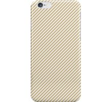 Christmas Gold & White Micro Candy Cane Diagonal Stripe iPhone Case/Skin
