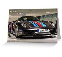 Porsche 918 Spyder - Porsche Museum Greeting Card