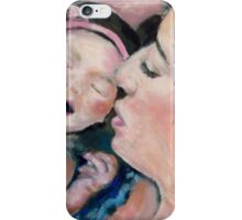 Newborn Baby Girl & Mama iPhone Case/Skin