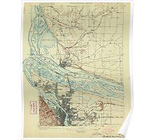USGS Topo Map Oregon Portland 282792 1897 62500 Poster