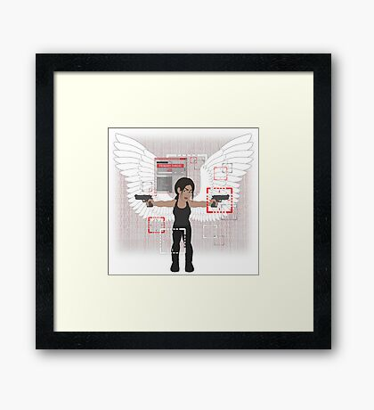 POI Chibi: Shaw (with wings) Framed Print
