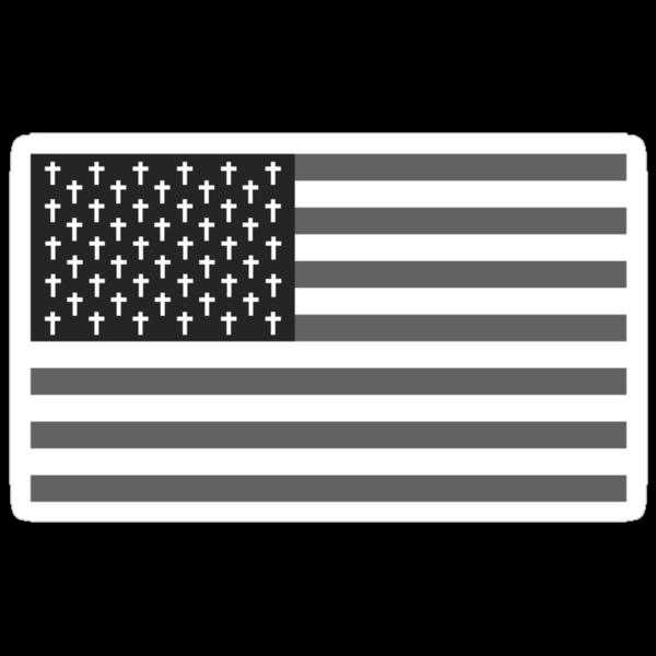 Goth Bless America B/W by JAVIER SAMANIEGO