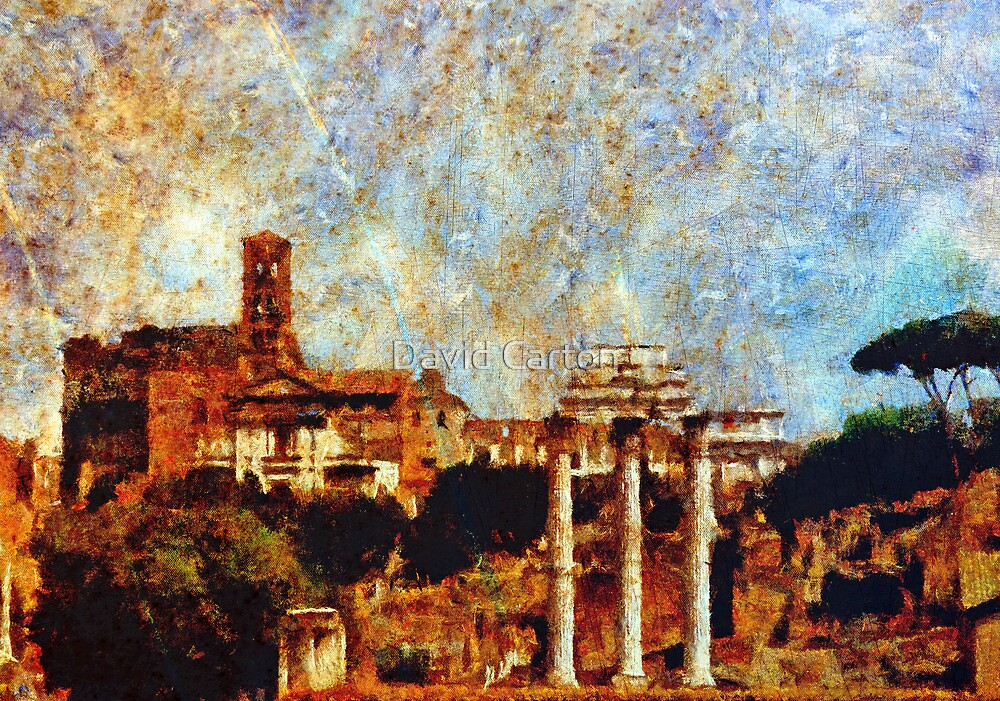 Temple of Castor and Pollux, The Forum,  Rome by buttonpresser