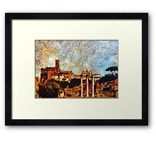 Temple of Castor and Pollux, The Forum,  Rome Framed Print
