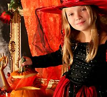 Girl with a Halloween pumpkin  by torishaa