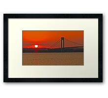 Verrazano Narrows Bridge - New York, New York Framed Print