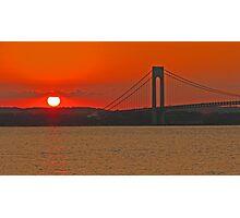 Verrazano Narrows Bridge - New York, New York Photographic Print